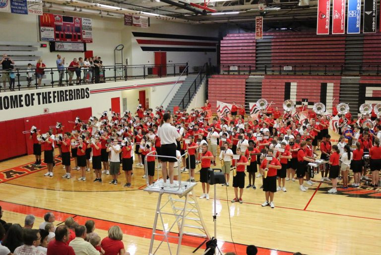 If there are thunderstorm-related concerns, as there were in 2015, it's likely that the festivities will be moved indoors to the gym.